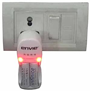 Envie Nano 2100 Battery Charger with Rechargeable Batteries