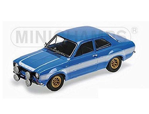 Ford Escort I RS1600 FAV, bleu/blanc, 1970, voiture miniature, Miniature déjà montée, Minichamps 1:18