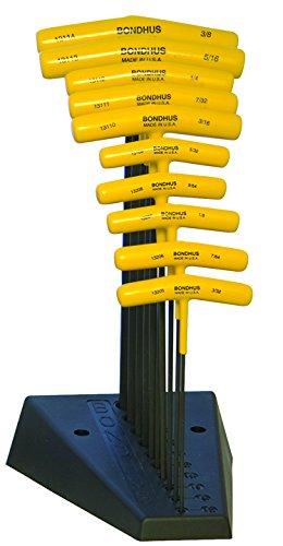 Bondhus 13190Set von 10Balldriver « und Hex T mit Ständer, Größen 3/32-3/8Zoll - Balldriver-hex-tool