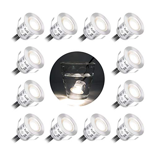 12 piezas 9W Focos empotrables LED empotrables de color blanco cálido 3000K...