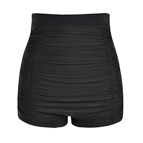 iBaste Damen Hohe Taille Bikini Bottom Geraffte Badeshorts Badeanzug unten Bikinihose - Unten Damen Badeanzug