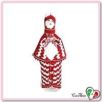 Cubierta Papá Noel roja y blanca para botellas de vino para Navivad - Tamaño: 28