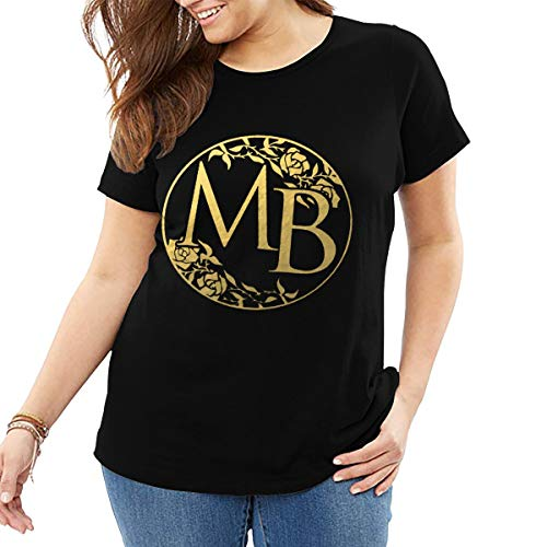 Damen T-Shirt Übergröße Michael Bolton Rundhals Mode Kurzarm T-Shirt Aus Baumwolle Schwarz 4XL