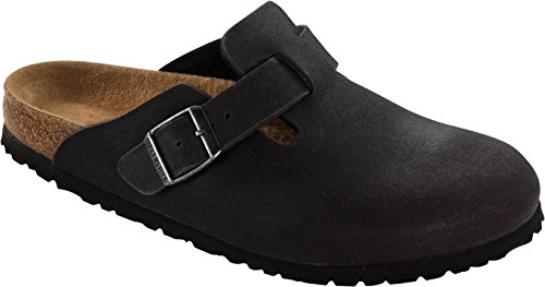 Birkenstock Classic - Boston, Zoccoli, unisex Anthracite