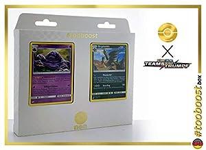 Sleimok (Grotadmorv) 63/181 & Grypheldis (Vaututora) 93/181 Tooboost X Sonne & Mond 9 Teams Sind Trumpf - Juego de 10 Cartas Pokémon y 1 Goodie Pokémon