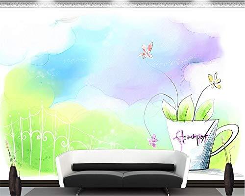 YGXPY Wallpaper Bar Simple Salon Peint à la Main TV Fond décoration Murale Peinture Murale 3D Papier Peint, 300 * 210cm