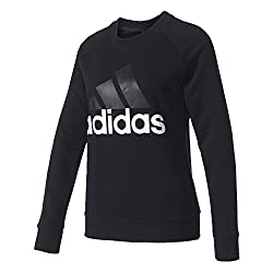 Adidas Damen Essentials Linear Sweatshirt, Black, S