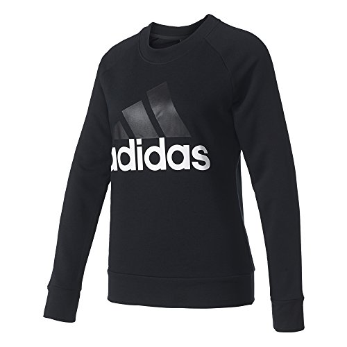 adidas Damen Essetnials Linear Sweatshirt, Black, M