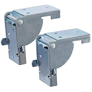 Gedotec Klappbeschlag Tisch-Klappenbeschlag klappbar für Tischbeine und Bänke | Stahl verzinkt | Klappkonsole für Tisch-Füße 38 x 38 mm | MADE IN GERMANY | 1 Paar - (2 Stück) - Klapptisch-Beschläge