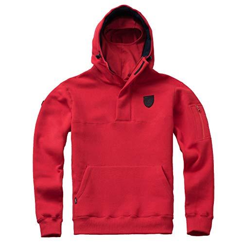 PG Wear Herren Full Face Hoodie Frontline 18 mit Sturmhaube schwarz rot Navy S-XXXL (M, Rot)