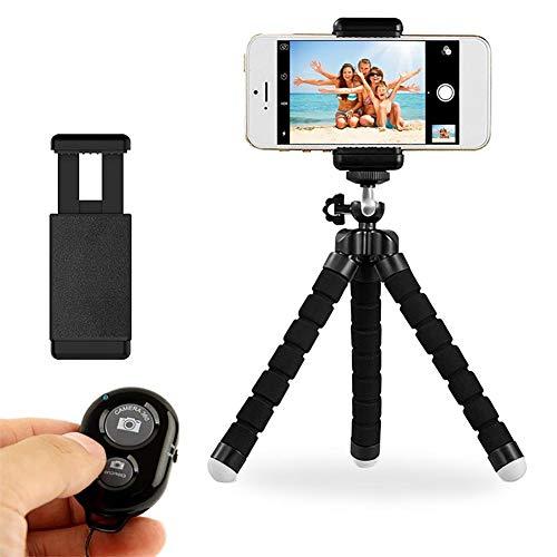 Steellwingsf Telefon-Stativhalter, universelle biegbare Schwammbeine Selfie Stativ-Stativ-Reiseteleiter-schwarz-andere Kamerazubeh?r