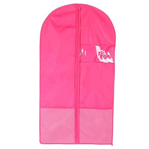Jeffergarden waschbar staubdicht Faltbare Kleidung Cover Protector für Garment Suit Coat(Rose rot) Cover Coat
