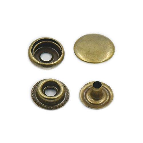 100 Sets 12 mm 1 5,1 cm cousue avec boucle en métal fermeture à pression en  cuir Craft Rapid Rivet Bouton de couture, Métal, bronze, 12mm 1 2