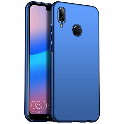 for Huawei P20 lite/Nova 3e Hülle, ZUERCONG [Matte Serie] Ultra Dünn Slim Cover Case Anti-Scratch Shockproof Handytasche Hartplastik Schutzhülle für Huawei P20 lite/Nova 3e, Glattes Blau