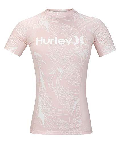 Lycra-top-t-shirts (Hurley Damen W Domino Rashguard S/S Lycra & Rashguard, Echo Pink, S)