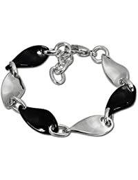 329259791a26 Amello Welle Armband silber schwarz Damen Schmuck Edelstahl Keramik ESAX08S