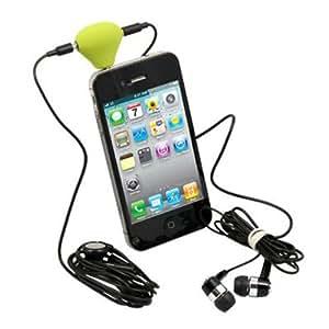 Double adaptateur pour écouter la musique à deux + un support (iPhone, iPod, MP3/4, téléphone portable, ordinateur portable et PC)