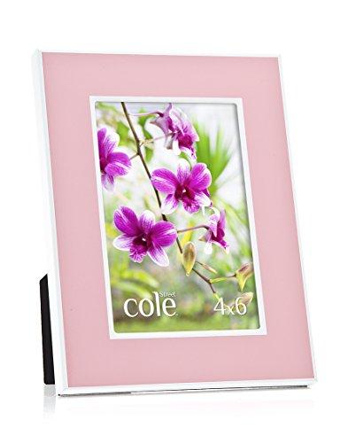 Philip Whitney 5x 7Bilderrahmen Powder Pink auf Weiß Metall (Weiß 5x7 Bilderrahmen)