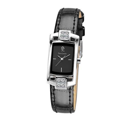 Pierre Lannier 019J633 - Reloj analógico de cuarzo para mujer con correa de piel, color negro