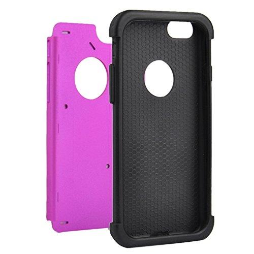 Phone case & Hülle Für IPhone 6 / 6S, Starry Pattern Silikon + Kunststoff Kombinationsetui ( Color : Black ) Purple