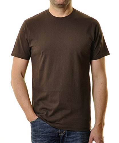 Ragman Herren T-Shirt Rundhals Singlepack  XL,  Braun