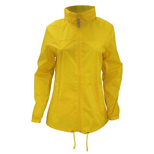 B&C Sirocco Lightweight Damen Jacke, besonders leicht, wasserabweisend M,Ultra Gelb