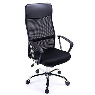 Poptoy – Silla de escritorio giratoria con respaldo alto con malla y altura ajustable para el hogar y la oficina