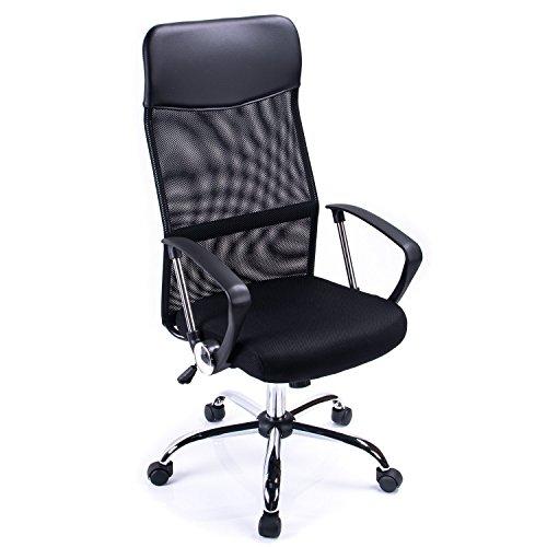 Poptoy - Silla de escritorio giratoria con respaldo alto con malla y altura ajustable para el...