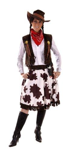 Cowgirl-Kostüm - für Damen - Größe 36-40
