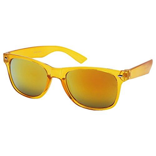 Ciffre EL-Sunprotect Sonnenbrille Nerdbrille Brille Nerd Transparent Feuer Gelb UV400