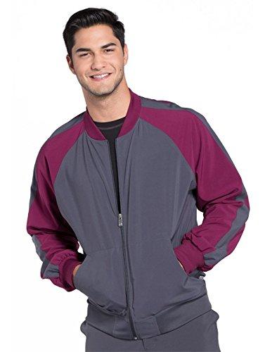 Cherokee Infinity Men's Colorblock Zip Up Warm-Up Scrub Jacket Cherokee Warm-up