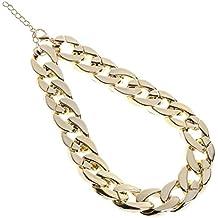 1bdb23ac667a Kofun Collar para mascotas de Hip Hop y oro grueso chapado en cadena de  plástico identificado