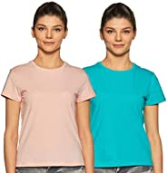 Amazon Brand - Symbol Women's Solid Regular Fit Half Sleeve T-Shirt (Combo Pack o