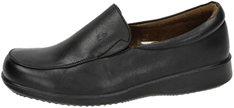 DEMAX P154 Mocasines Negros Mujer Zapatos MOCASÍN