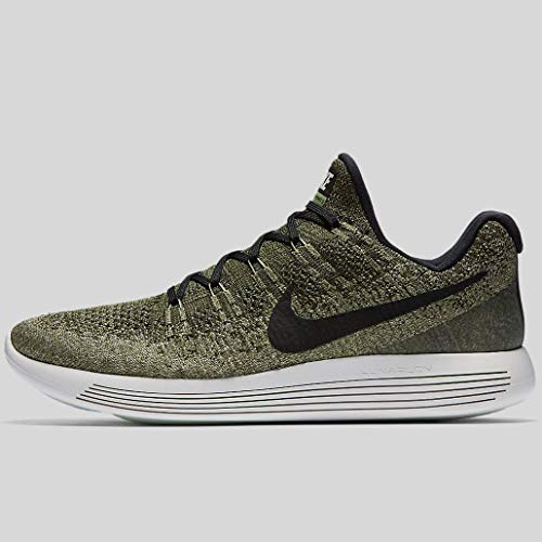 879553157ee Nike Mens Lunarepic Low Flyknit 2 Rough Green Black Palm Green Running Shoe  (12)