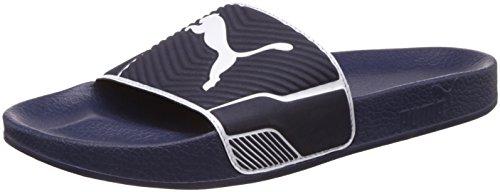 Puma leadcat ts, sandali con cinturino alla caviglia unisex-adulto, blu (peacoat-white), 42 eu