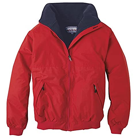 Musto Mens Classic Snug Blouson Showerproof Breathable Performance Jacket (XL) (True Red/ Navy)
