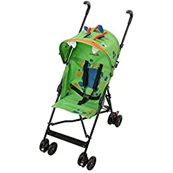 Safety 1st Poussette Canne Fun Crazy Peps Spike, Légère avec Canopy, Design Dinosaure