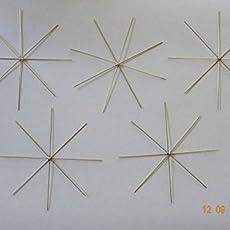 40 teilig Perlen Stars Draht Sterne Perlensterne Drahtsterne Set