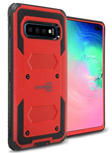 CoverON Panzer-Serie Schutzhülle für Samsung Galaxy S10 Plus, Red Octane