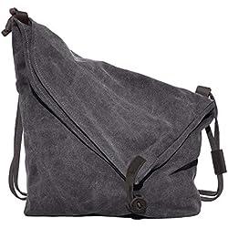 Bolso Bandolera, Coofit Bolsos Mujer y Hombre Lona Bolso de Hombro Bolso Shopper Callejero Bag