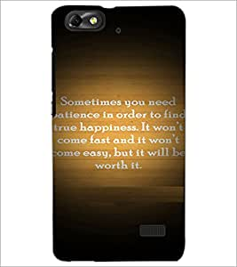 PrintDhaba Quote D-4922 Back Case Cover for HUAWEI HONOR 4C (Multi-Coloured)