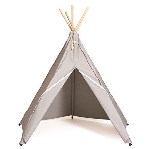 Stone Grey con Arroz Blanco Cierre-Room Mate hippie Tipi-Original hippie Tipi tipi infantil, indios, Juego tienda del escandinavo Kult Labels Room Mate-Para interiores y
