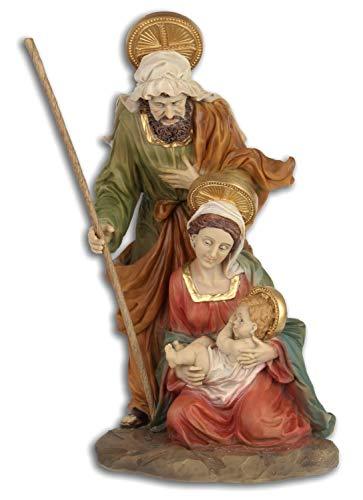 Aubaho Marie José Jesús Sagrada Figura Navidad Belén Pintado a Mano