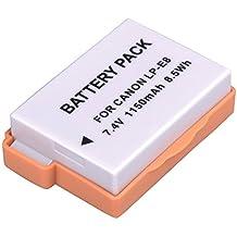 BPS Batteria ad Alta Potenza LP-E8 LP E8 per Canon EOS 700D,EOS 650D,EOS 600D,EOS Digital SLR Camera Digitale,Canon Battery Grip BG-E8,Canon Caricabatterie LC-E8E