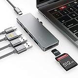 dodocool Hub USB C, Adattatore 7-in-2 Tipo c con HDMI 4K, 2 Porte USB 3.0,Thunderbolt 3 100W PD, USB Tipo C, Lettore di schede SD/Micro SD per MacBook PRO 2019/2018/2017/2016, MacBook Air 2019/2018