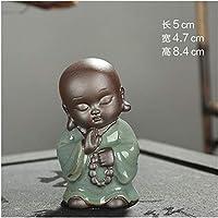 WDDqzf Adornos Estatuas Decoraciones Figura Escultura Creative Boutique Smiling Buddha Té Mascota Cerámica Mad Monk Adornos