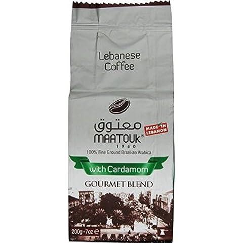 Maatouk Caffè libanese con cardamomo –MiscelaGourmet, 200g/ 7oz - 2 pacchetti