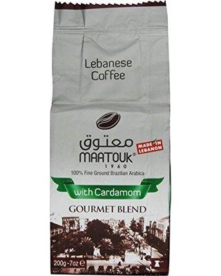 maatouk libanese Caffè con Cardamomo Gourmet misto, 200g/7oz-Confezione da 2