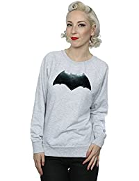 DC Comics Women's Justice League Movie Batman Emblem Sweatshirt